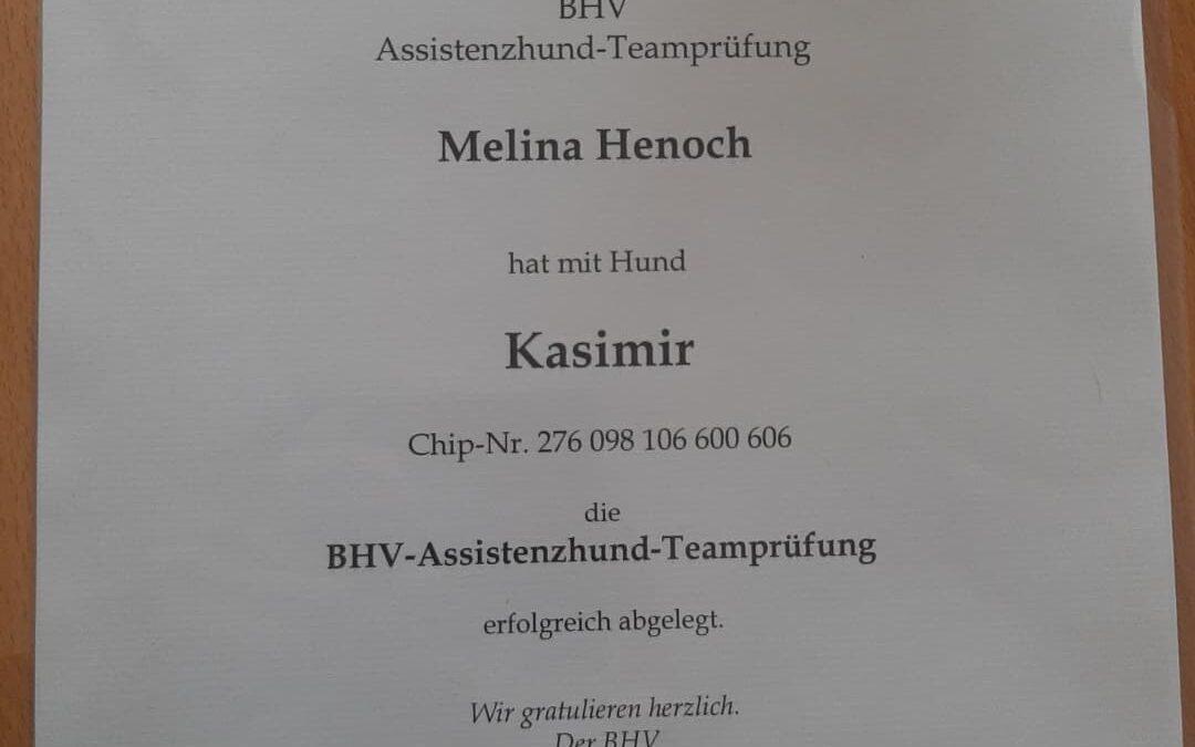 Unser erstes zertifiziertes Team